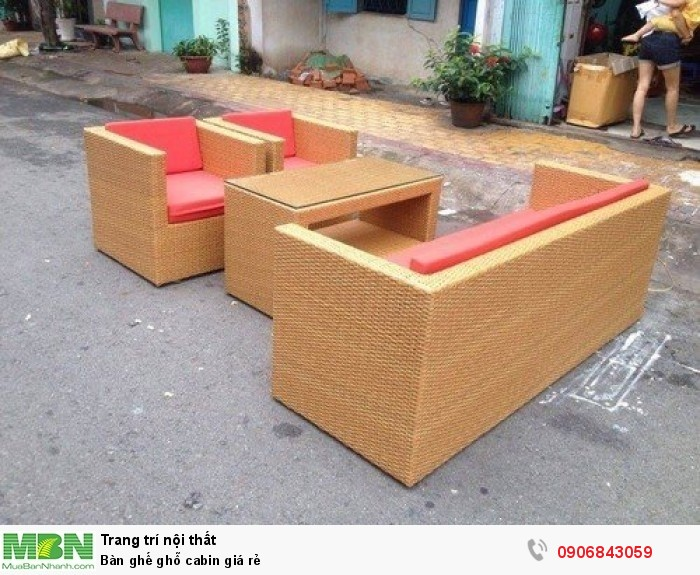 Bàn ghế ghỗ cabin giá rẻ4