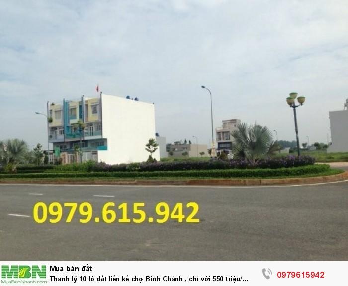 Thanh lý 10 lô đất liền kề chợ Binh Chánh , chỉ với 550 triệu/ nền
