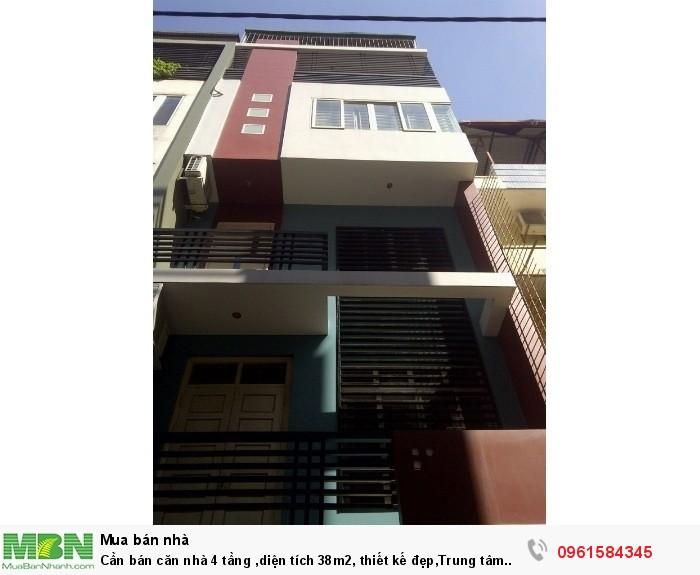 Cần bán căn nhà 4 tầng ,diện tích 38m2, thiết kế đẹp,Trung tâm Trâu Quỳ,
