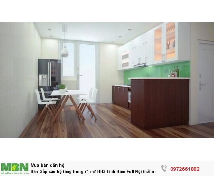 Bán Gấp căn hộ tầng trung 71 m2 HH3 Linh Đàm Full Nội thất nhìn ảnh chỉ muốn ở ngay nhanh tay click