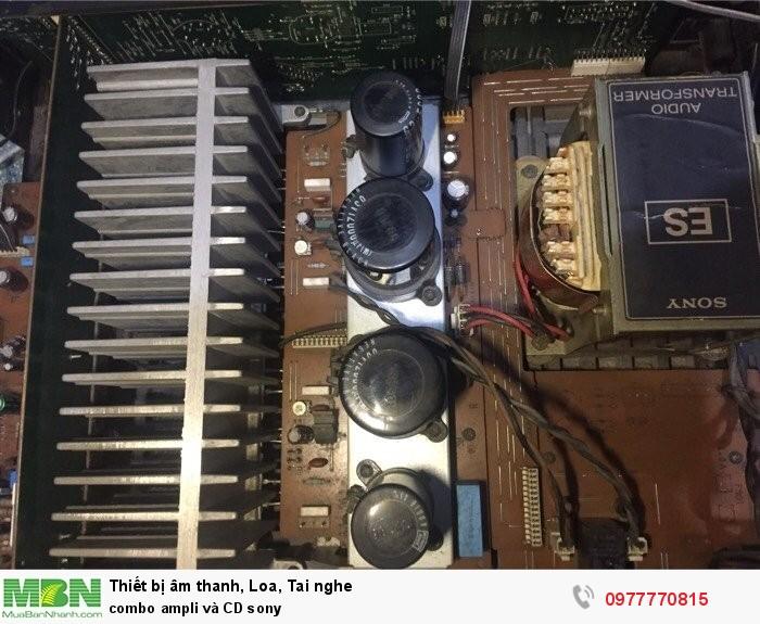combo ampli và CD sony