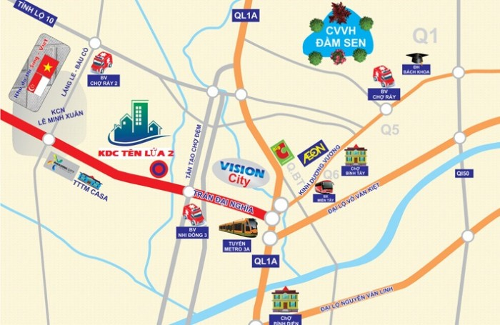 Mở bán 100 nền KDC Tên Lửa II gần Tân Tạo Chợ Đệm chỉ 400 triệu/nền, CK 8%, SHR.
