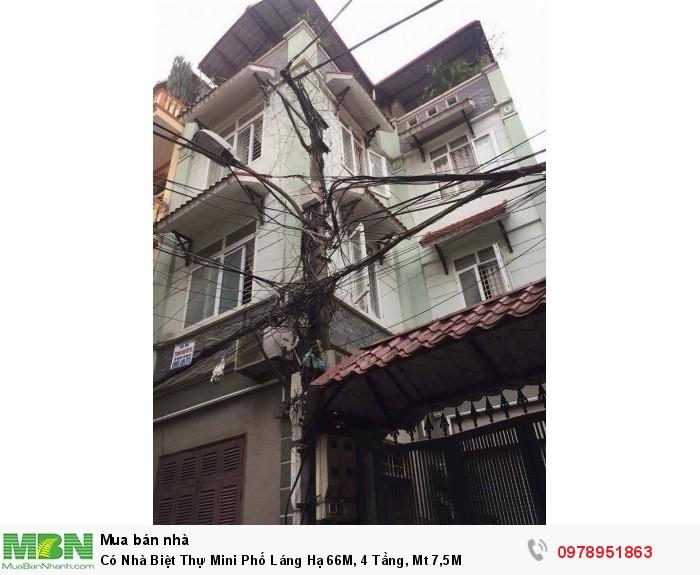Có Nhà Biệt Thự Mini Phố Láng Hạ 66M, 4 Tầng, Mt 7,5M