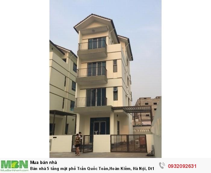 Bán nhà 5 tầng mặt phố Trần Quốc Toản,Hoàn Kiếm, Hà Nội, Dt142m2, Mt10m
