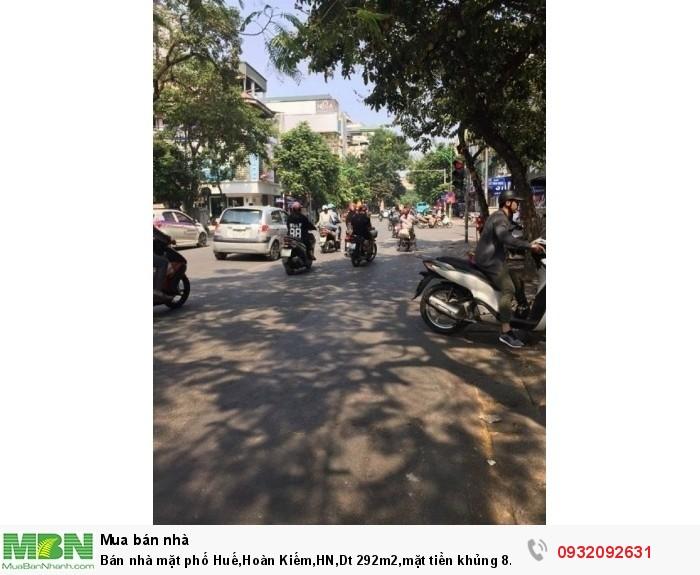 Bán nhà mặt phố Huế,Hoàn Kiếm,HN,Dt 292m2,mặt tiền khủng 8.3m, giá 500tr/m2