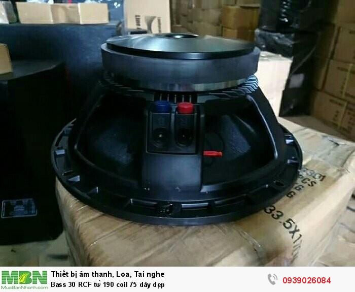 Bass 30 RCF từ 190 coil 75 dây dẹp