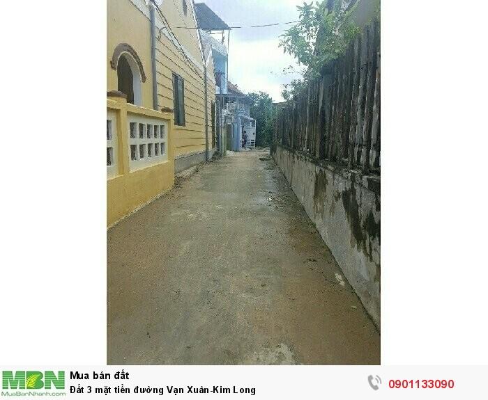 Đất 3 mặt tiền đường Vạn Xuân-Kim Long