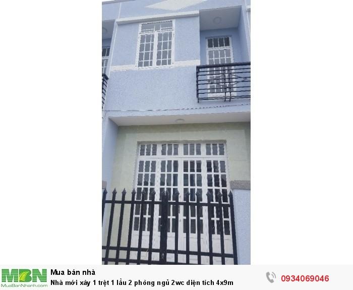 Nhà mới xây 1 trệt 1 lầu 2 phòng ngủ 2wc diện tích 4x8m