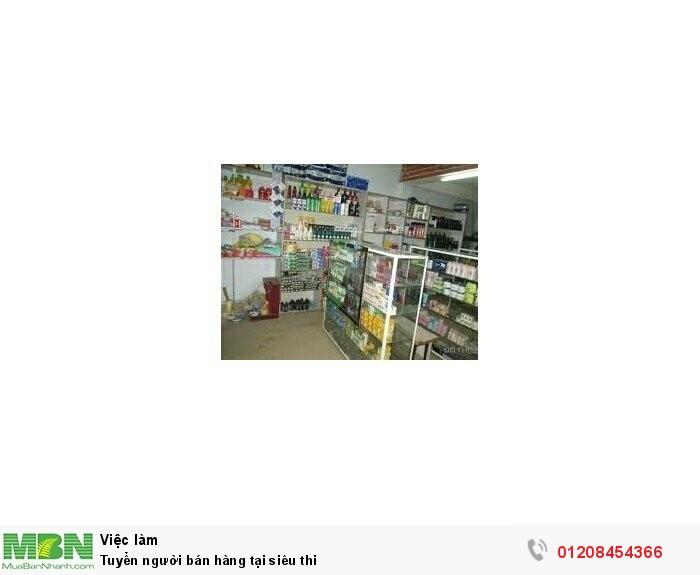 Tuyển người bán hàng tại siêu thi