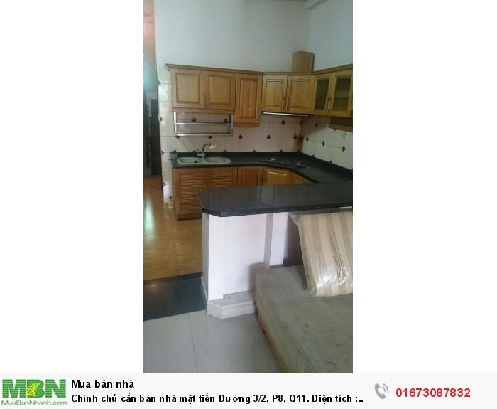 Chính chủ  cần bán nhà mặt tiền  Đường 3/2, P8, Q11. Diện tích : 3.7x 14.8 m.