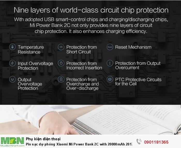 Pin sạc dự phòng Xiaomi Mi Power Bank 2C with 20000mAh 2017 - MSN1813143