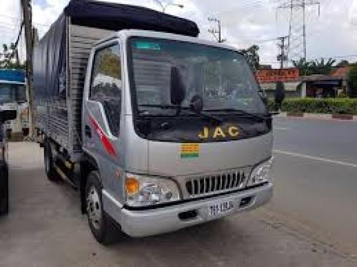 Xe tải Jac 3450 Kg thùng bạt từ chassis, kết hợp động cơ Izuzu siêu tiết kiệm giá rẻ