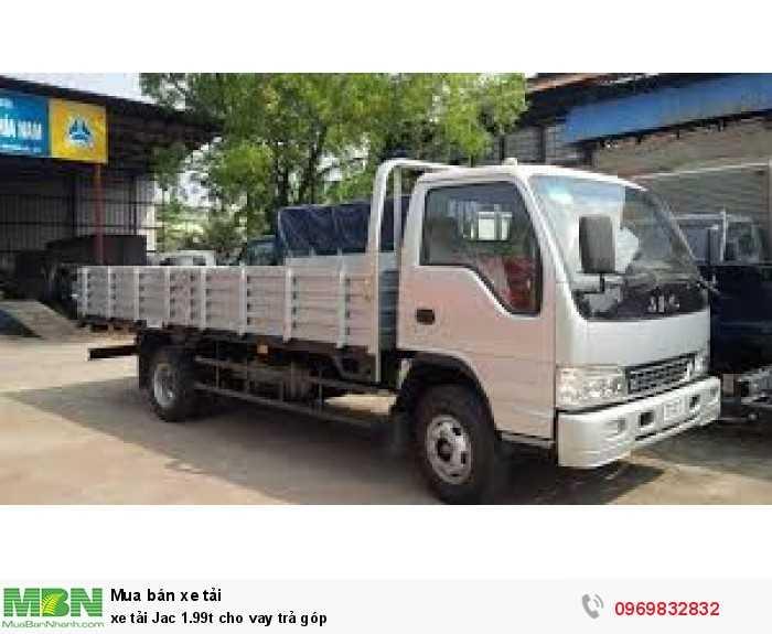 xe tải jac-1.99t_cho vay trả góp_bảo hành lần đầu