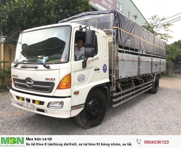 Xe tải Hino 8 tấnthùng dài 8m5, xe tai hino 8t bửng nhôm, xe tải hino FG 8t
