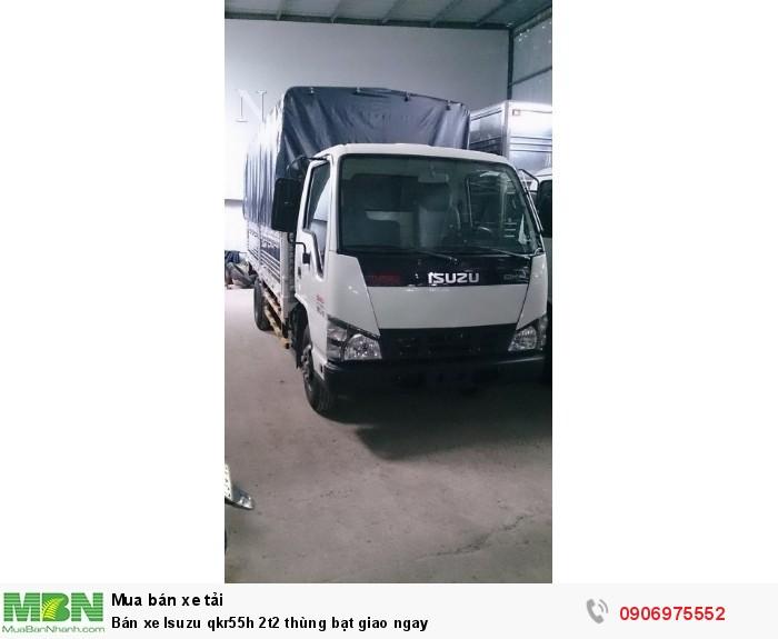 Bán xe Isuzu qkr55h 2t2 thùng bạt giao ngay