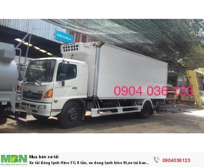 Xe tải đông lạnh Hino FG 8 tấn, xe đông lạnh hino 8t,xe tải bảo ôn hino 8t,xe tải hino bảo on 8t