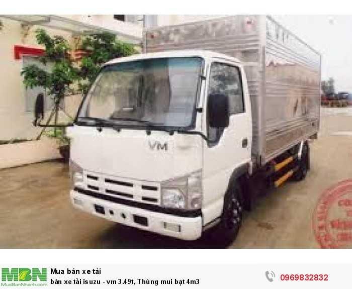 bán xe tải isuzu, 3.49t, cho vay trả góp
