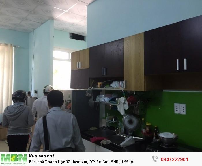 Bán nhà Thạnh Lộc 37, hẻm 4m, DT: 5x13m, SHR, 1.55 tỷ.