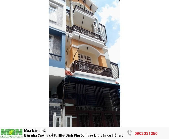 Bán nhà đường số 8, Hiệp Bình Phước ngay khu dân cư Hồng Long 54m2/2.7 tỷ