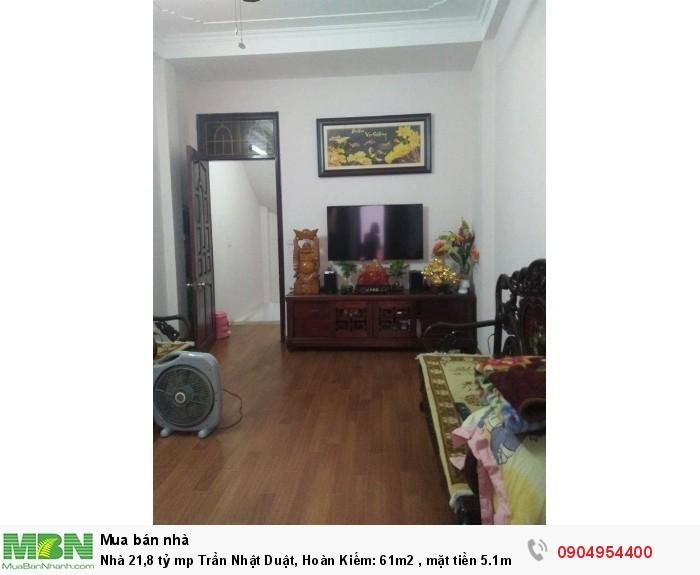 Nhà 21,8 tỷ mp Trần Nhật Duật, Hoàn Kiếm: 61m2 , mặt tiền 5.1m. Vỡ nợ bán gấp!!!