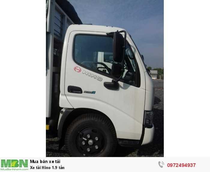 Báo giá xe tải Hino 1.9 tấn, Hino 1t9 - Hỗ trợ trả góp 80% LS thấp 1