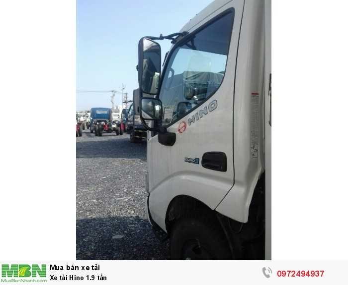 Báo giá xe tải Hino 1.9 tấn, Hino 1t9 - Hỗ trợ trả góp 80% LS thấp 3
