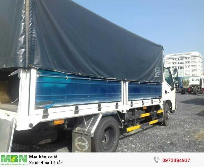 Báo giá xe tải Hino 1.9 tấn, Hino 1t9 - Hỗ trợ trả góp 80% LS thấp 4