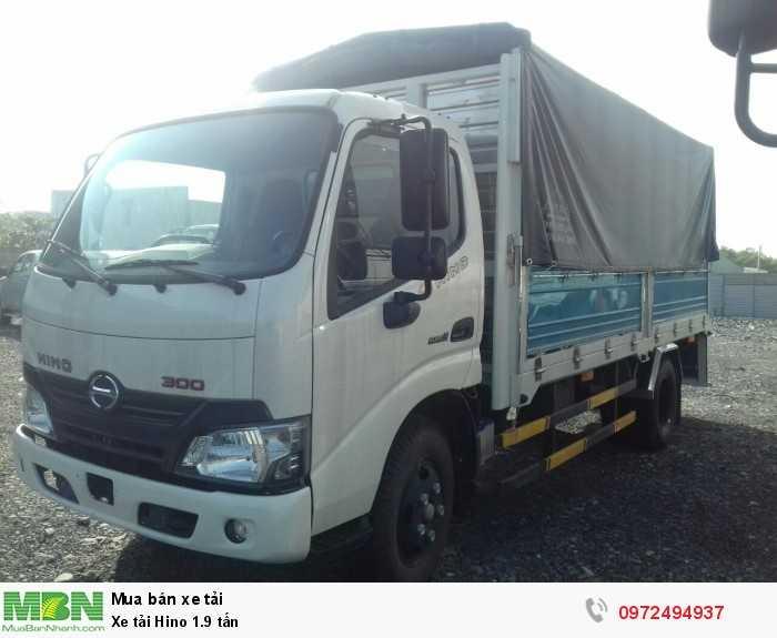Báo giá xe tải Hino 1.9 tấn, Hino 1t9 - Hỗ trợ trả góp 80% LS thấp 5
