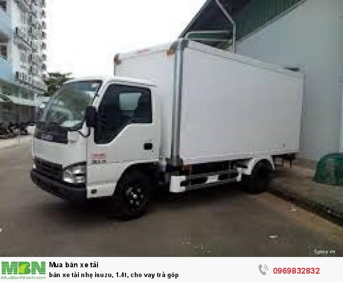 bán xe tải nhẹ isuzu, 1.4t, cho vay trả góp