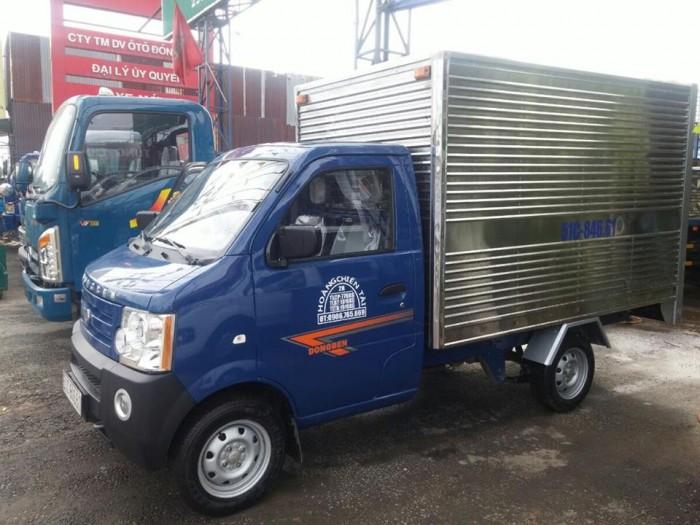 DongBen 870kg Thùng Kín sản xuất năm 2017 Số tay (số sàn) Xe tải động cơ Xăng