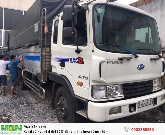 Xe tải cũ Hyundai đời 2015 đóng thùng inox bững nhôm 1