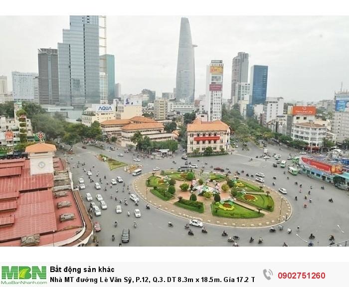 Nhà MT đường Lê Văn Sỹ, P.12, Q.3. DT 8.3m x 18.5m. Gía 17.2 Tỉ.