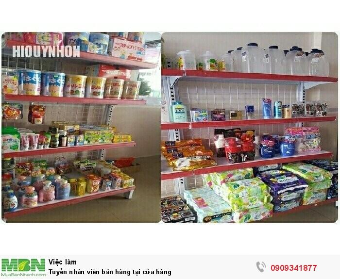 Tuyển nhân viên bán hàng tại cửa hàng