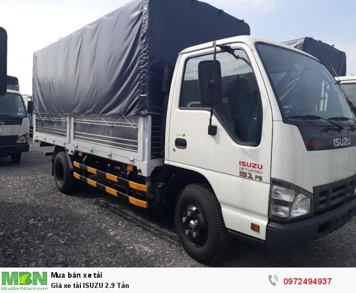 Báo giá xe tải ISUZU 2.9 Tấn - Liên hệ: 0972494937 (24/24)