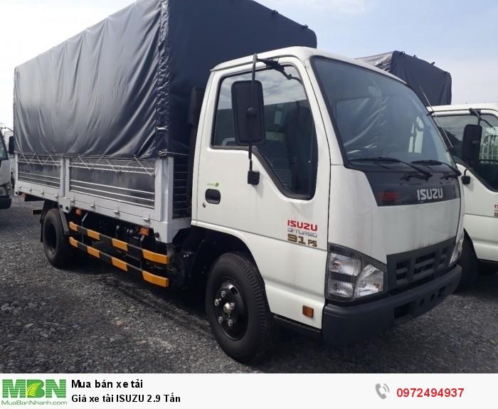 Giá xe tải ISUZU 2.9 Tấn - Trả trước 150 triệu giao xe ngay