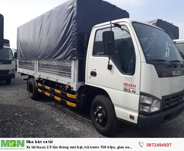 Xe tải Isuzu 2.9 tấn, thùng mui bạt, trả trước 150 triệu - Liên hệ: 0972494937 (24/24)