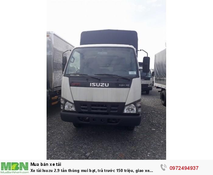 Xe tải Isuzu 2.9 tấn, thùng mui bạt - Liên hệ: 0972494937 (24/24)