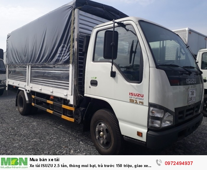 Xe tải ISUZU 2.5 tấn, thùng mui bạt, trả trước 150 triệu, giao xe ngay - Liên hệ: 0972494937 (24/24)