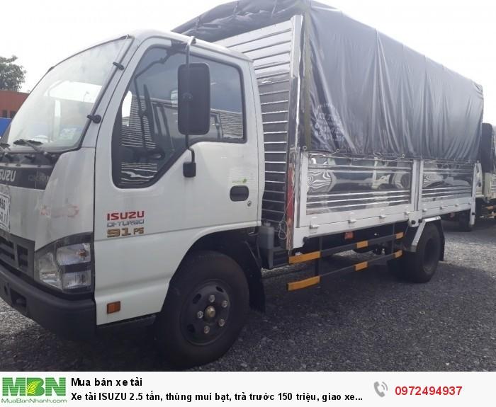 Xe tải ISUZU 2.5 tấn, thùng mui bạt, nhận đóng thùng theo yêu cầu - Liên hệ: 0972494937 (24/24)