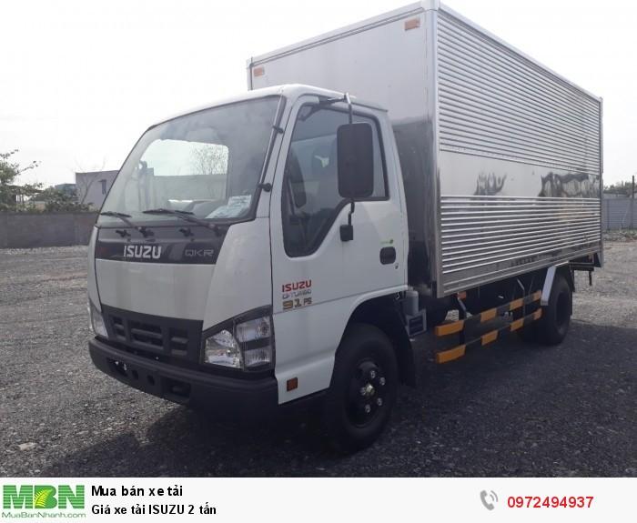 Báo giá xe tải ISUZU 2 tấn - Liên hệ: 0972494937 (24/24)