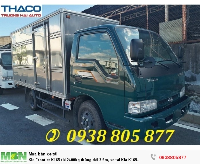 Dòng xe tải nhẹ Thaco K165s