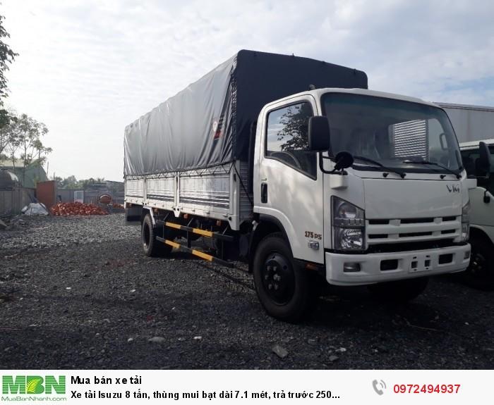 Xe tải Isuzu 8 tấn, thùng mui bạt dài 7.1 mét - Liên hệ: 09723494937 (24/24)
