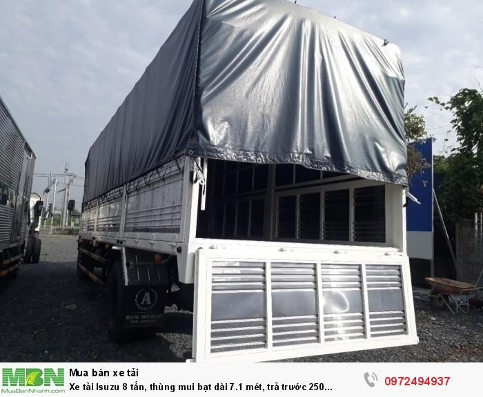 Xe tải Isuzu 8 tấn, thùng mui bạt dài 7.1 mét, trả trước 250 triệu - Liên hệ: 0972494937 (24/24)