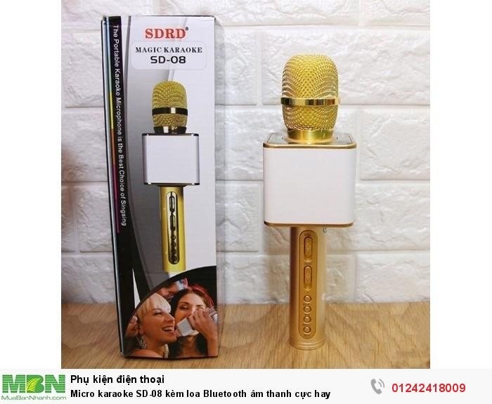 Micro karaoke SD-08 kèm loa Bluetooth âm thanh cực hay