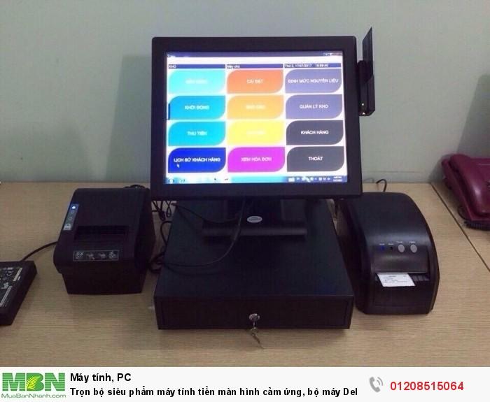 Trọn bộ siêu phẩm máy tính tiền màn hình cảm ứng, bộ máy Dell và phần mềm quản lý tính tiền, kiểm soát quầy thu ngân cho quán trà sữa1