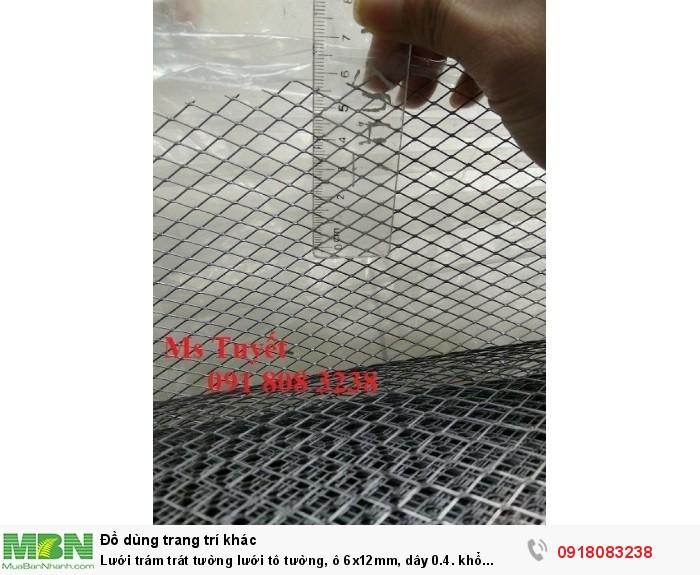 Lưới trám trát tường lưới tô tường, ô 6x12mm, dây 0.4. khổ 1mx45m, hàng có sẵn tai Hà Nội1