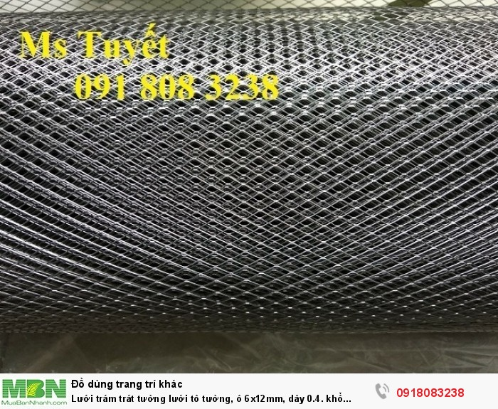 Lưới trám trát tường lưới tô tường, ô 6x12mm, dây 0.4. khổ 1mx45m, hàng có sẵn tai Hà Nội3
