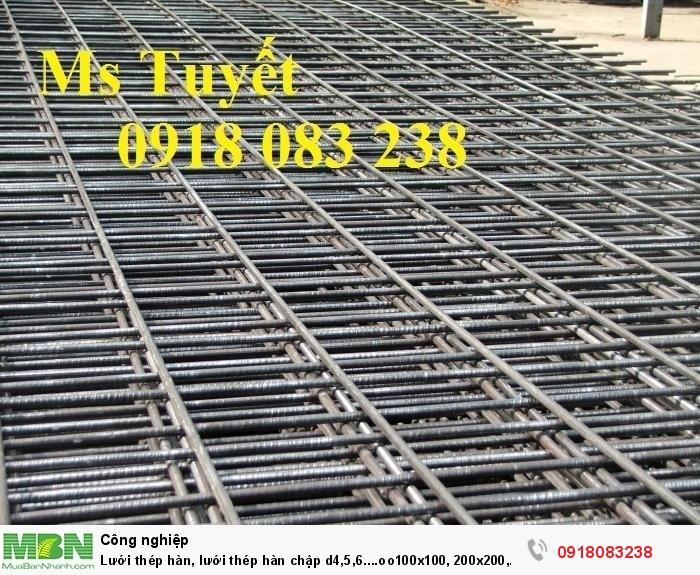 Lưới thép hàn, lưới thép hàn chập d4,5,6....oo100x100, 200x200, 150x150...0