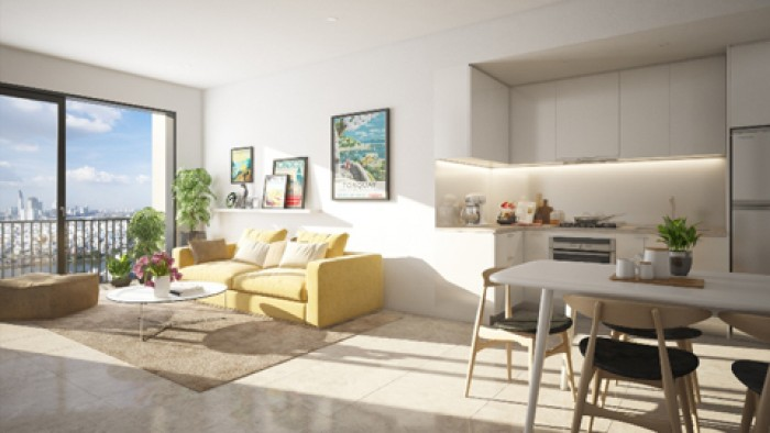 Cho thuê căn hộ M-ONE 2PN, 2WC, nội thất đầy đủ, giá 12tr/tháng