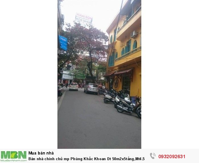 Bán nhà chính chủ mp Phùng Khắc Khoan Dt 50m2x5tầng,Mt4.5m